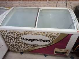 Deep freezer ice cream use.