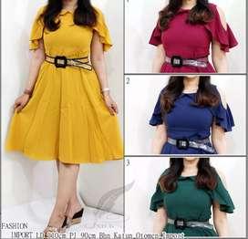 Dress import,kwalitas import free belt