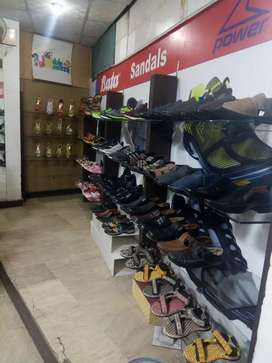 Running shop of shoes
