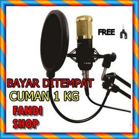 PROMO PAKET KARAOKE / RECORDING Microphone BM 800 Stand Mic + Pop