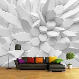 Best Designs 3D Wallpapers at best rate - Rs. 70 per sqft