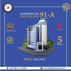HOT LOCATION COMMERCIAL PLOT | OPPOSITE GRAND MOSQUE | BAHRIA TOWN LHR