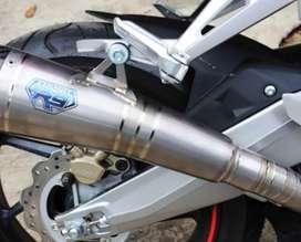Knalpot R9 H2 Titanium ORIGINAL