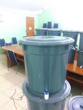 Tong plastik 40 liter + kran / tong air + kran / wastafel portable