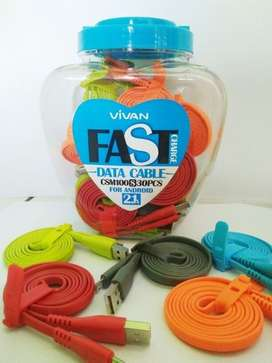 Kabel Data Vivan support fast charging for android