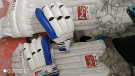 As club Cricket pad and gloves