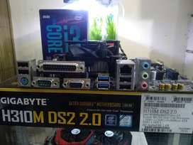 Paket Motherboard/ Mainboard/ Mobo Gigabyte H310 + i3 9100F
