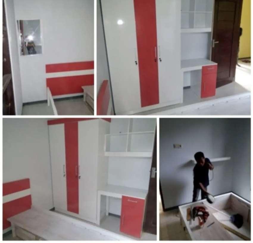 Set kamar minimalis kayu jati duco hpl bergaransi