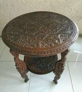Antique Carving Table (Solid Teak Wood)