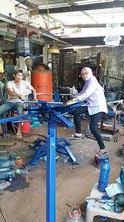 Meja Sablon bisa di setel Sablon Manual Meja Rotary 8 warna 8x8  Mesin