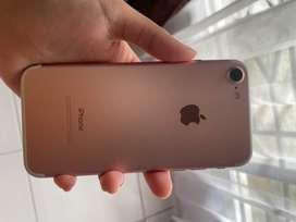 Iphone 7 128gb rosegold plus kabel MFI dan case