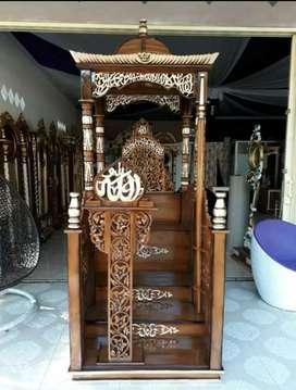 mimbar masjid kubah harga terjangkau kayu jati