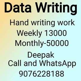 Good hand writing paper work