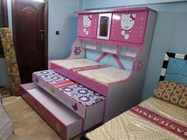 Cabinet bed style. Three bed option without foam