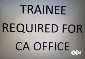 Accounts Trainee for CA firm