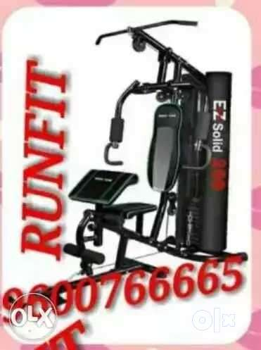 Black And Orange Exercise Equipment home gym 0