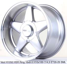 Cicilan Velg racing mobil type VEST H1050 HSR R16X8/9 H10X100-114,3 ET