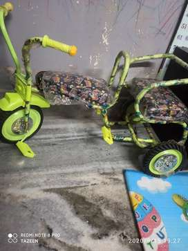 New double seat tricycle