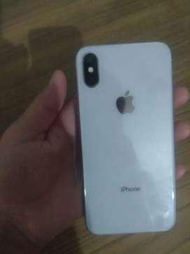 I phone X  white colour