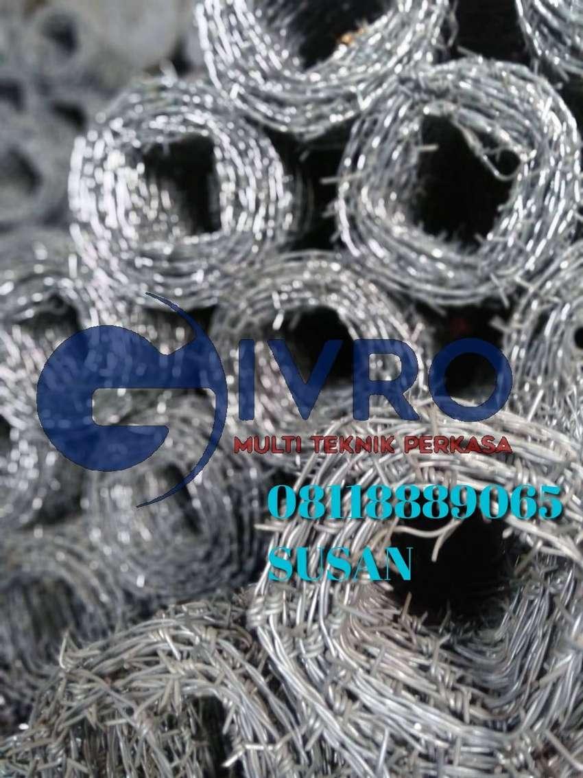 Pabrik dan distributor kawat duri ElektroPleating murah 0