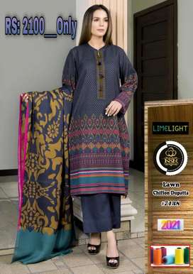 Best quality Lawn/Chiffon or Lawn Dupatta/M.M_Collections...