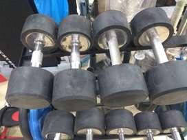 Rubber coated dumbbell 10 kg pair