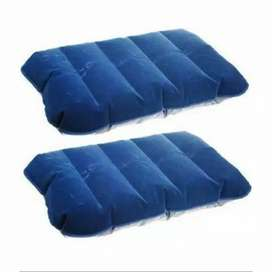 HS Bantal Angin tiup Travelling inflatable neck pillow high rest