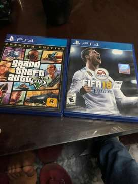 GTA 5 primium edition nd fifa 18 for sale