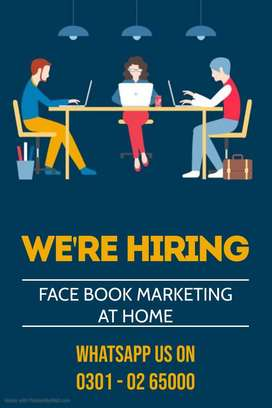 Daily & weekly base income at home by online Face book marketing job