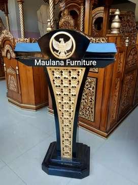 Mimbar masjid podium dan logo