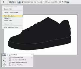 Graphic design of shoes