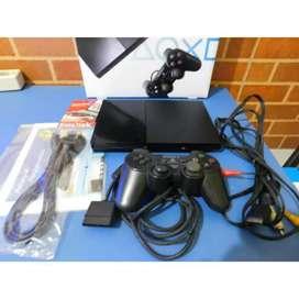 PS2 Slim Seri 9 + Flash Disk 32GB tinggal main (PS2-CON-002)