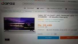 Haier 32 inch led with Mira Cast