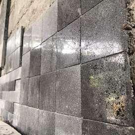 Batu alam candi hitam ubin batu keramik tegel.