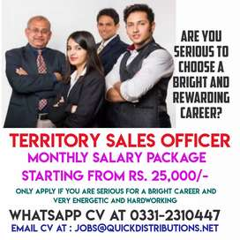 Required Territory Sales Officers (Order Bookers) for Food Products