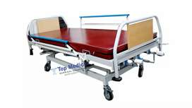 Manual Hospital Bed On Rent, Stainless Steel 3 function bed & wheel