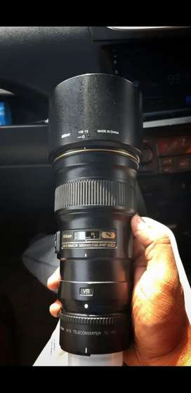 Nikon 300mm pf F4 prime lens with 1.7 tc