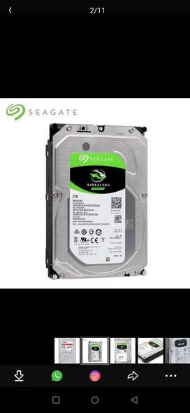 2 Tb 7200 rpm HDD, hard disk A1 condition