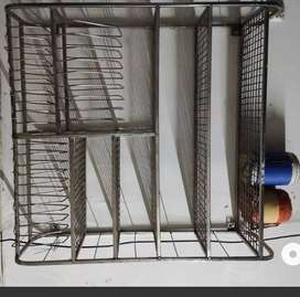 Kitchen steel rack for utensils