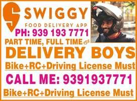 Urgently wanted swiggy boys
