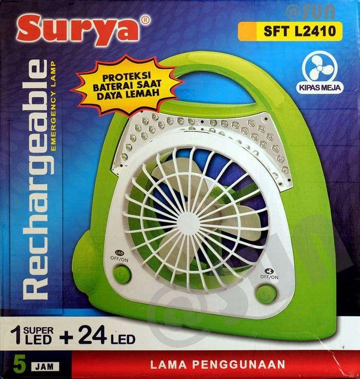 Lampu Emergency + Kipas + Senter Surya 2410 0