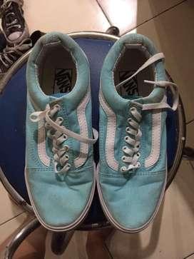 Sepatu vans biru tosca premium