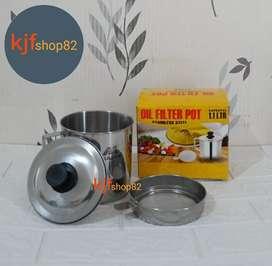 Oil Pot Stainless 12 Cm 1.1 Liter Muliya (Dus Kuning)