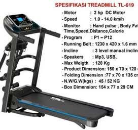 New Treadmill Elektrik 3 Fungsi TL 619