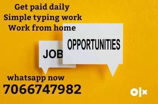 do typing work and your payment daily 0