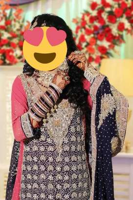 Bride sharara nd maxi nd grome sharwani nd 3 pice only 1 time used