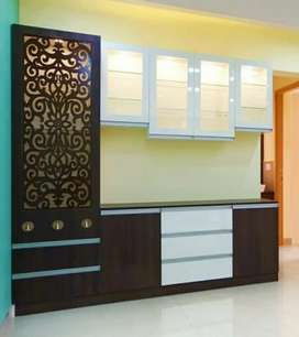 Modular kitchen Wardrobe all interior work 850rs sqft