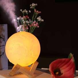 Humidifier Aroma Terapi 3D Ultrasonic Model Bulan Kapasitas 880ml