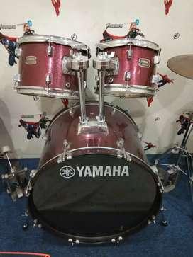 Set Drum Yamaha Rydeen dan symbal sabian sbr