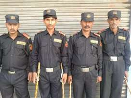 Hiring for security guards in malls and hospitals.